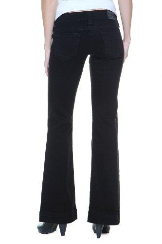 True Religion Damen Jeans Flare Leg Disco Candice Wash 1V Super Vixen, Farbe: Schwarz, Größe: 24 (Disco-flare Jeans)