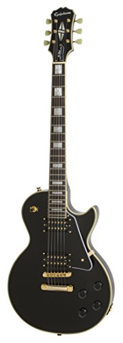 Epiphone Ltd Ed Les Paul Custom Classic PRO E-Gitarre, Ebony (exklusiv bei Amazon) - Paul Custom Classic Les