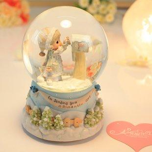 JinRou casa moderna decorazione sfera di cristallo Music Box Creative regalo di compleanno nozze ,2 dei materiali di consumo