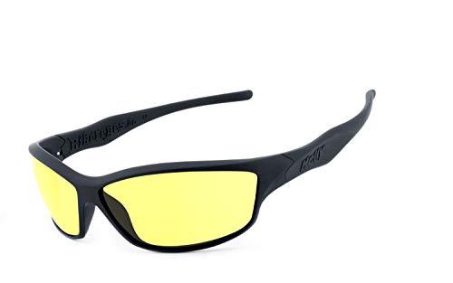 Helly® - No.1 Bikereyes® | H-FLEX®- unzerbrechlich, UV400 Schutzfilter, nachtsicht HLT® Kunststoff-Sicherheitsglas nach DIN EN 166 | Bikerbrille, Motorradbrille, Sportbrille, Nachtbrille | Brill.