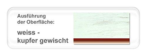 expendio hochwertiges Metallbett Cesar komplett, Varianten, Bett + Lattenrost + Matratze, Jugendbett Singelbett Ehebett, Liegefläche:120 x 200 cm, Farben:weiß - Kupfer gewischt/Bicolour