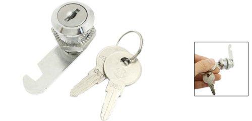 sourcingmap® 5.08 cm Durchmesser, 1/AG Cam Lock w 2 Schlüssel, silberfarben