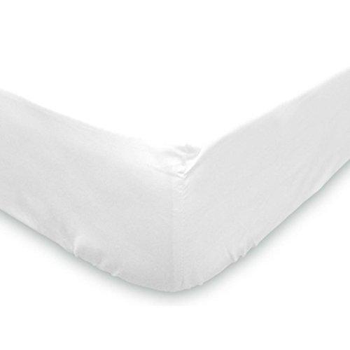 Soleil d'ocre 613800 Drap Housse Coton 57 Fils Uni Blanc