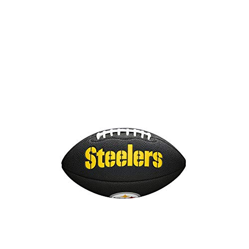 Wilson Pittsburgh Steelers NFL Mini Football Schwarz