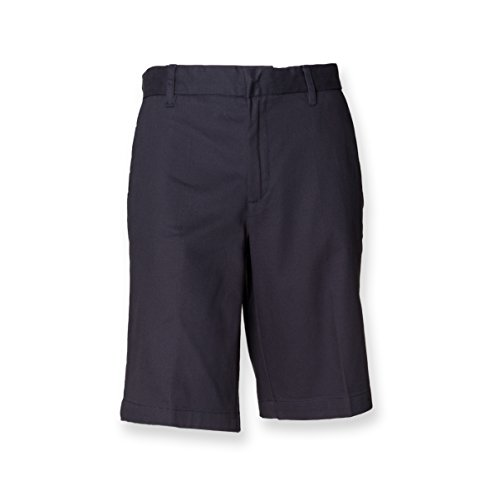henbury-womens-ladies-twin-pleat-front-chino-teflon-coating-shorts-blue-navy-16