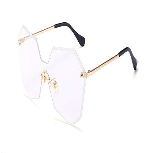 Yangjing-hl Mode rahmenlose trimmen Sonnenbrille Trend Einteilige Verlaufssonnenbrille weibliche Persönlichkeit Brille transparenten Film