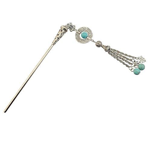 Sharplace Haarstab Haarnadel Haarschmuck Hairpin Hair Stick Vintage Haarnadel Haarstock - Silber Type3 - Hauch-sticks