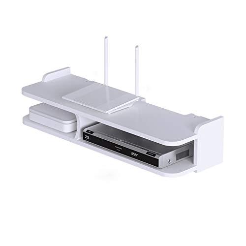 LI HAO SHOP Router-Regal, Aufbewahrungsbox für Spielkonsolen, schwebendes Regal, Wandmontage-Regal, Set-Top-Box-Regal, TV-Wandregal, 30x20x12,5 cm (Size : 60x20x13cm)