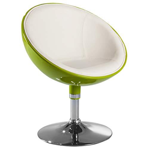 Duhome Elegant Lifestyle Lounge Sessel Grün-Weiß Kunstleder-Kunststoff Mix Clubsessel Cocktailsessel Farbwahl - Typ 207