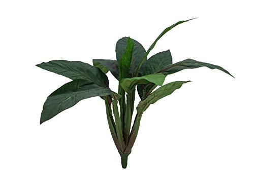 artplants Set 'Künstliche Keulenlilie + Gratis UV Schutz Spray' - Kunstpflanze Cordyline NUNA, auf Steckstab, grün, 45cm