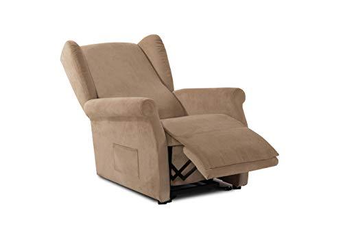 Smart Reha - SIMPLY - Aufstehsessel mit 2 Motoren - Simply MADE IN ITALY. Relaxsessel Senior Fernsehsessel Ruhe TV Sessel mit elektrischer Aufstehfunktion, Verstellbare Rückenlehne und Fußteil