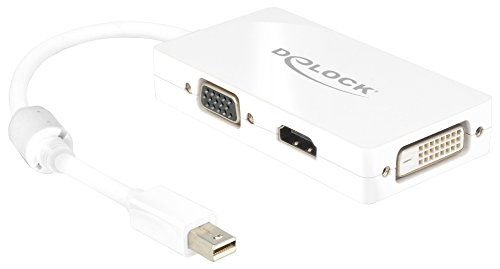 Delock Adapterkabel mini DisplayPort 1.1 Stecker > 1 x VGA + 1 x HDMI + 1 x DVI 24+1 weiß