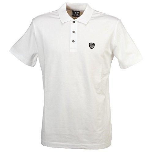 Poloshirt EA7 EMPORIO ARMANI Herren 3YPF83 PJ03ZE1200 Schwarz White