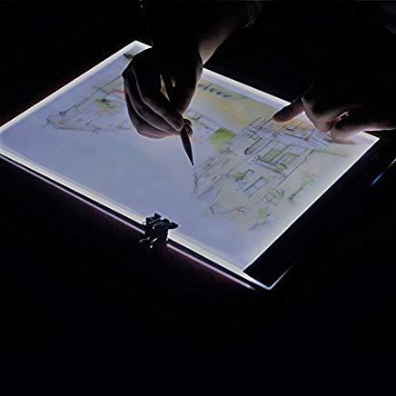 V-Best A4 Ultradünne tragbare LED-Lichtbox LED Schreibtischlampe USB Kabel 3 Stufen Lichteinstellung für Künstler Zeichnen Skizzieren Animation