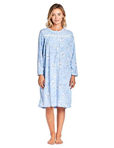 Casual nights Damen Nachthemd Gr. XXXL, Floral/Blue -