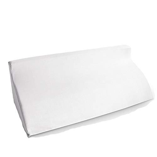 Bettkeile Beinkissen Bücherkissen Orthopädische Kissen Dreieck-Auflage R-Typ Umschlag-Auflage Dreieck-Kissen-Seitenkissen Haiming (Farbe : Weiß, größe : R Type 50 * 25 * 15)