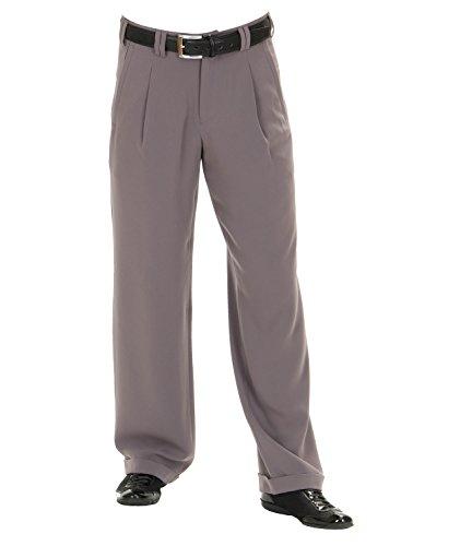 Swing Bundfaltenhose in Flieder Grau mit Gerade geschnittene Beine 50s Style Größe 56