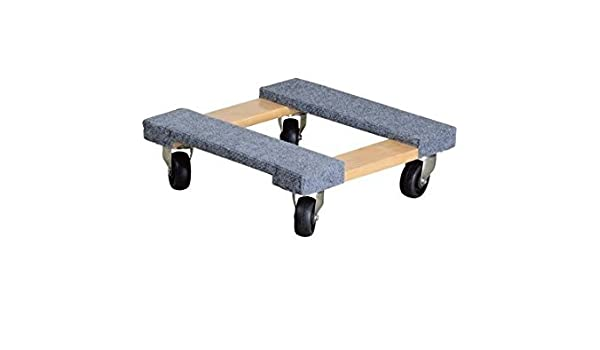Capacity Ironton Carpeted Mover/'s Dolly 16in.L x 16in.W 1000-Lb