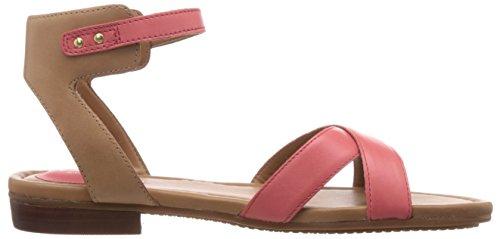 Clarks Viveca Zeal, Sandales femme Rose (Coral Leather)