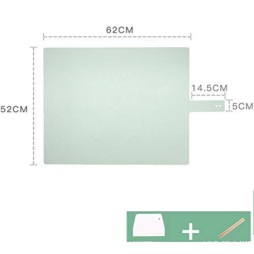 xgvvb Silikonmatte MatteLebensmittelqualität Panel HaushaltsbackenwerkzeugeOlivgrün (Zuckerrohr+Gesichtsmesser)