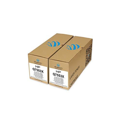 2X Q7553X, 53X Schwarz Toner kompatibel zu HP Laserjet M2727NF MFP P2014 P2015 P2015d P2015dn P2015n P2015x