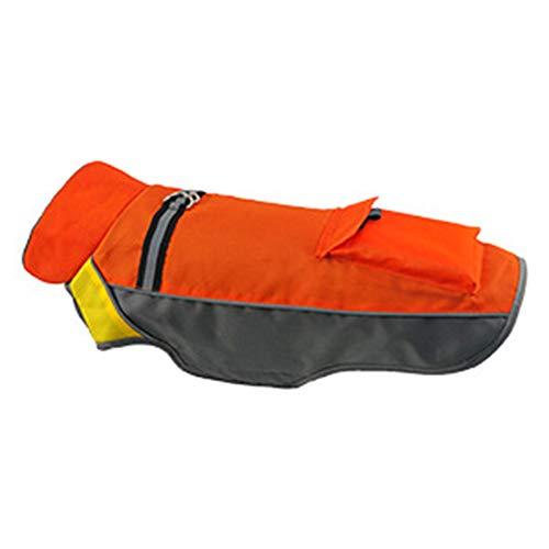 Hosaire 1x Wasserdichte Haustier Jacke, Hundejacke Outdoor Hundemantel Warm Hundejacke Bekleidung Orange-M