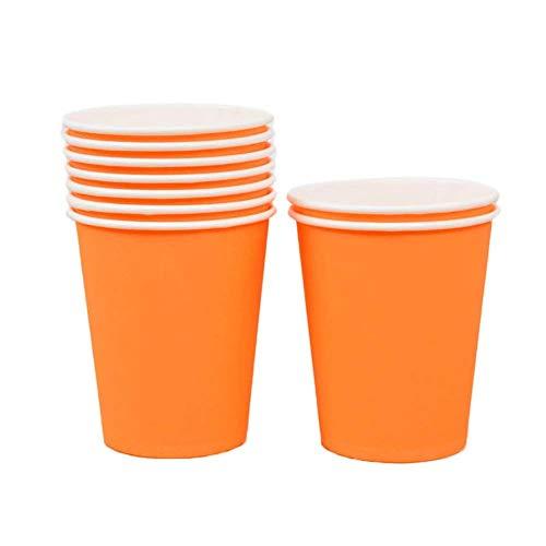 WDOIT 10 pcs Papier jetables Tasses Environnementale Santé Outils de Bricolage à la Main des matériaux Enfants fête Tasses