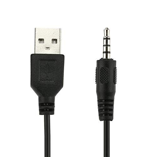 iBaste_top Anschluss Tragbare Größe Auto Auto Audio Converter Adapter AUX 3,5 mm Stecker auf USB Stecker Datenkabel für Auto Navigation