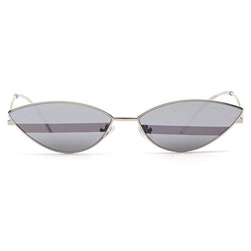 Occhiali da sole ins moda bicolore avant-garde color matching glasses uomini e donne swag,grey