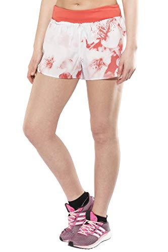 adidas Damen Supernova TKO Xpose Graphic Glide Short Laufshorts, Crystal White/Trace Scarlet s18, S -