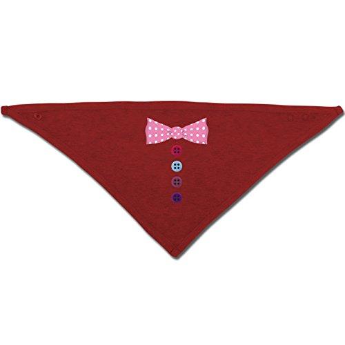 Anlässe Baby - Clown Kostüm rosa Fliege - Unisize - Rot - BZ23 - Baby-Halstuch als Geschenk-Idee für Mädchen und Jungen