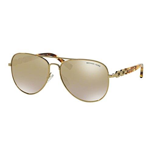 Michael Kors Damen Fiji MK1003 Sonnenbrille, Gold verspiegelt 10046), X-Large (Herstellergröße: 62)