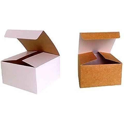Confezione da 10 x Auto Montaggio Pacco Regalo (Codice#B) Cartone Piatto confezione auto montaggio Pacco regalo per Cioccolatini, Gioiello, Piccolo Regali - Scatola Di Cartone Crafts
