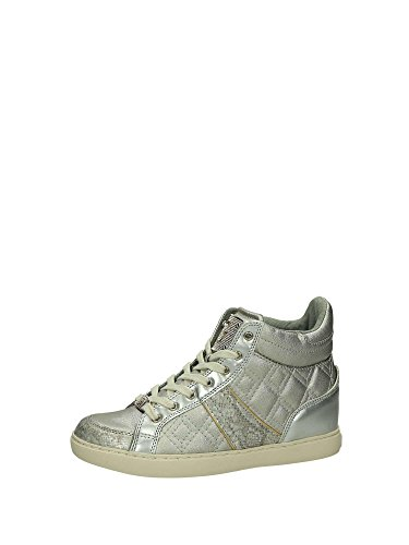 Acho Damen Sneaker Stiefel Rady Silber Couro Ecológico Senhora Ativa