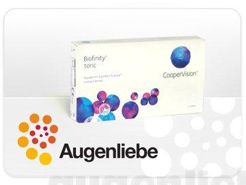 Biofinity Toric (3) Monatslinsen weich/BC 8.7 mm/DIA 14.5 mm/CYL -2.25 / ACHSE 20/0 Dioptrien