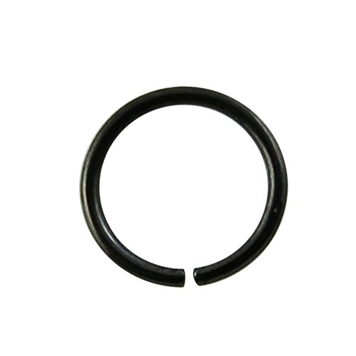 18 gauge (1,0 MM) - 12MM Durchmesser schwarz eloxiertem 316L chirurgischer Stahl nahtlos kontinuierliche Hoop Nase Piercing Ring (Septum Gauge 12 Bar)