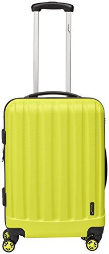 Packenger Hartschalen Koffer 'Velvet' L in Gelb / ABS / 62x40x27cm, 74 Liter, 3,5Kg / Zwillingsrollen (360°) / Koffer mit TSA Zahlenschloss / stabiler Alltags...
