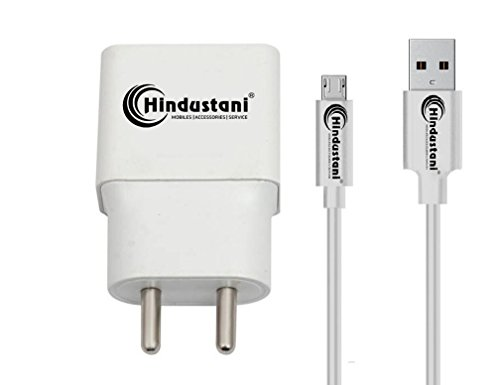 A2Z Shop 2A Mobile Charger Compatible With Panasonic P66 Mega, Panasonic T44, Panasonic P55 Novo, Panasonic P88, Panasonic Eluga A2, Panasonic T45 4G, Panasonic Eluga Tapp, Panasonic Eluga I2, Panasonic P85, Panasonic T50, Panasonic Eluga Prim, Panasonic T30, Panasonic P75, Panasonic Eluga Ray X, Panasonic Eluga Ray Max, Panasonic Eluga Note Charger Original Adapter Like Wall Charger 2.1 Ampere With 1.2 M USB Data Charging Cable - White