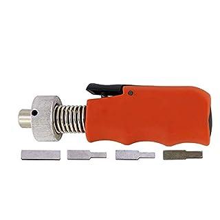 Loboo Idea 180 Degree Rotation Lock Pick Plug Spinner, Turning Lock Opener Tool,Locksmith Lockpick Gun for Auto, Multifunction Dimple Lock Bump Tools for Locksmith (GOSO, Orange)
