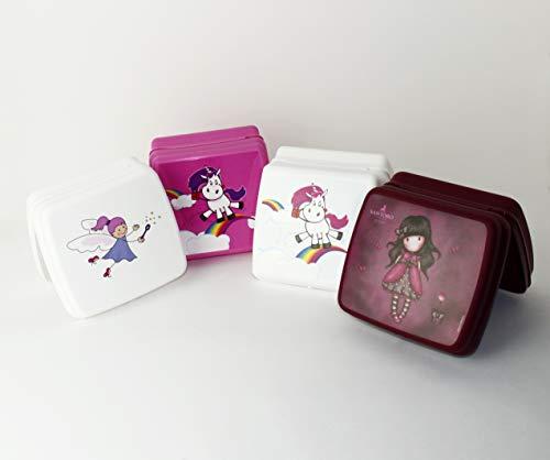Tupperware to Go Sandwich-Box weiß Fee + Einhorn Weiß + Einhorn Pink + Santoro Pausenbox Brotbox...