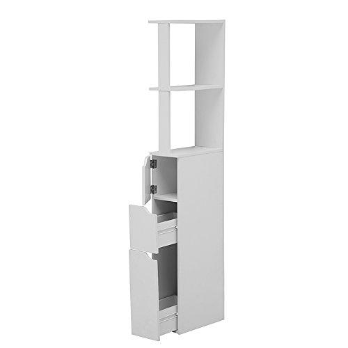 Selsey Carinda – Badregal/Badezimmer Regal, MDF Board, Weiß, 136 x 15.2 x 33 cm