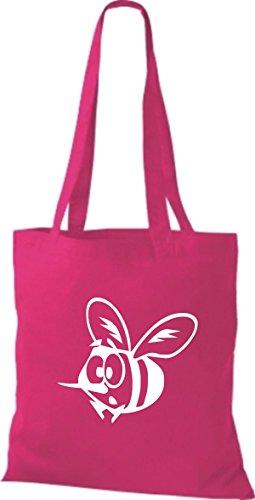 Shirtstown Stoffbeutel Tiere Biene pink
