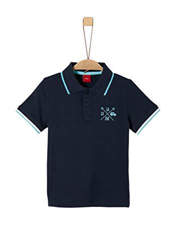 s.Oliver Jungen 63.904.35.5512 Poloshirt, Blau (Dark Blue 5874), 116 (Herstellergröße: 116/122/REG) -