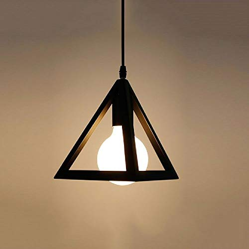 LMDH Beleuchtung Polygon Loft Art Deco Vintage Draht Anhänger Küche Kronleuchter -