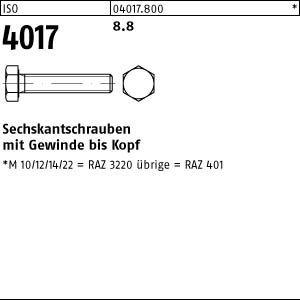 ISO 4017 8.8 Sechskantschrauben mit Gewinde bis Kopf - Abmessung: M12x60 (100 Stück)