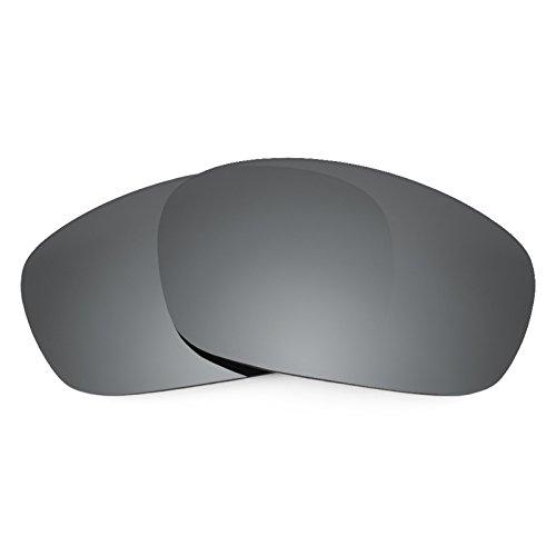 Verres de rechange pour Oakley Racing Jacket — Plusieurs options Noir Chrome MirrorShield® - Non-Polarisés
