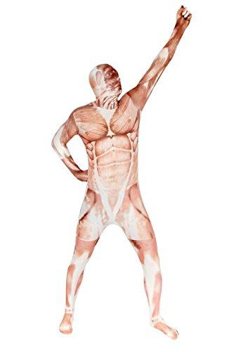 Anatomiemorphsuit Morphsuit Ganzkörperanzug Muskelmorphsuit, Größe:XL