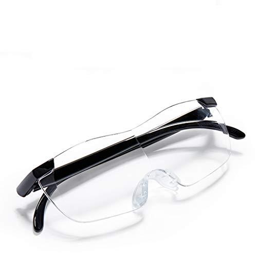 1.5X ältere Vergrößerungsglas-alte Sehschwäche Macular Degeneration Leute, die Zeitungsbuch lesen (Color : Black)