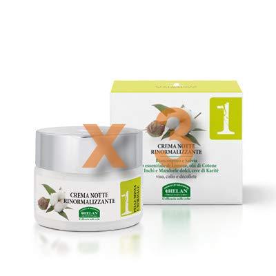 Helan - linea viso 1 crema notte rinormalizzante 50 ml [3 confezioni] efficace   naturale   benessere quotidiano - [kit con tisana-infuso benessere]