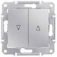 Schneider Electric SDN1300160 Pulsador de Persianas, Aluminio